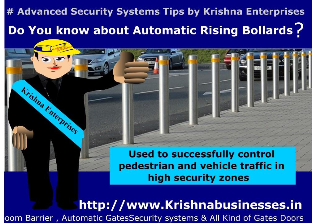Automatic Rising Bollard, Bollard, Security Bollard, High Security Zone Bollard